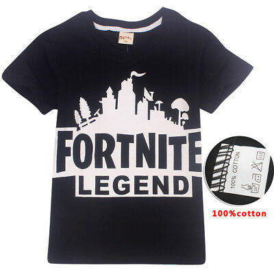 New Fortnite Boys Girl's Short Sleeve T-Shirts 100% Cotton Tops tshirts Clothes