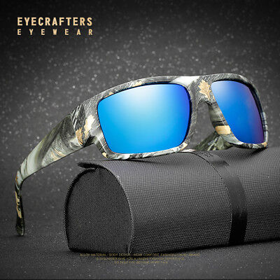 Polarized Sunglasses Mens Camo Outdoor Sports Fishing Hunting Goggles Glasses