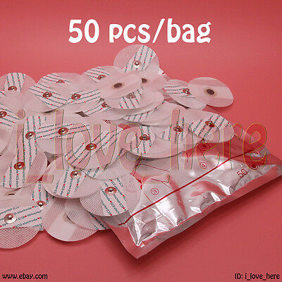 Electrode Pads Portable Handheld Home ECG EKG Heart Monitor Machine 50 pcs/pack