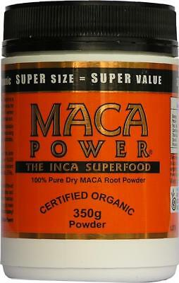 100% MACA ROOT POWDER 350 Pure Raw Certified Organic Powder NON-IRRADIATED 10/19