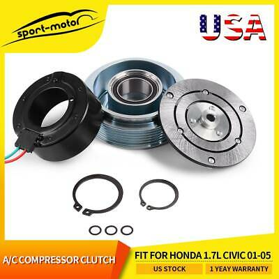 A/C Compressor Clutch Assembly Fit For Honda 1.7L CIVIC 2001 2002 2003 2004 2005