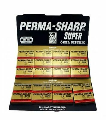 Perma-Sharp Barber Super Double Edge Razor Blades Hanging Card – Pack Of 100