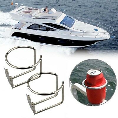 2pcs / Lot Stainless Steel Boat Ring Cup Drink Holder for Marine Yacht Truck RV