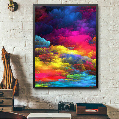 Colorful clouds full drill diamond embroidery 5d  diamond painting home decor  X