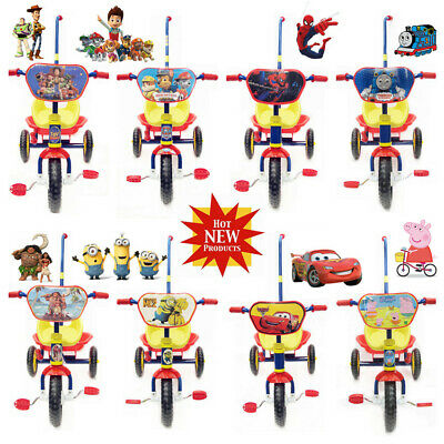 2019 Cartoon Design Mcqueen Car Thomas Spiderman Moana Tricycle Kid Ride On Toy
