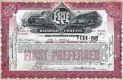 Erie Railroad Company, 1930 (2 Shares First Preferred)