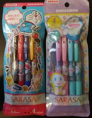 Doraemon Sarasa Clip Gel Ballpoint Pen Set AB  / Registered Air