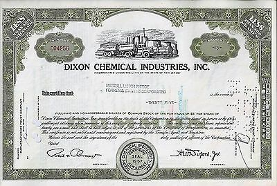 DIXON Chemical Industries Inc., New Jersey, 1961 (25 Shares) mit Tax-Marke