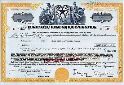 Lone Star Cement Corporation, 1984, 5  1/8% Debenture due 1993 (25.000 $)