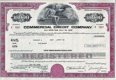 Commercial Credit Company, 1978,  6 7/8% Note due July 15, 1979 (10.000 $)