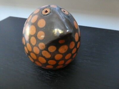 Vintage Antique? African tribal pottery artwork, bird sculpture, signed uganda