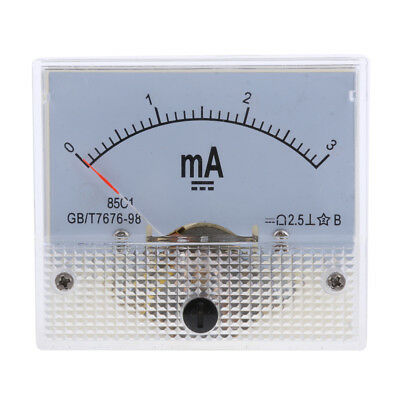 0-5mA DC Ammeter Analogue Panel Amp Meter Analog Current Panel Milliampere