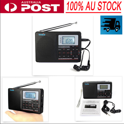Digital LCD Radio Receiver World Full Band AM/FM/SW/MW/LW TV Sound Alarm Clock