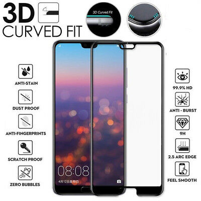 Huawei P20 Lite / Pro Genuine Full 3D Tempered Glass 9H Screen Protector Cover