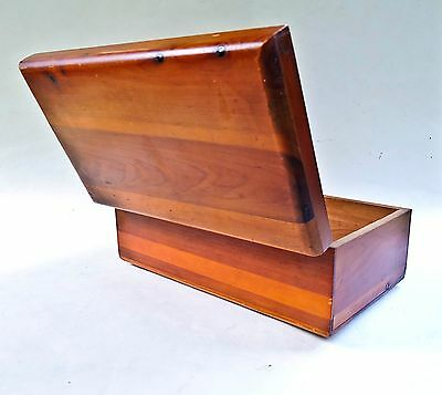 Vintage Miniature Lane Cedar Chest Jewelry Box Beals  Newport Beach Westchester