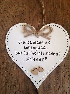 Chance Made Us Colleagues Retirement Friend Birthday Gift Plaque Work Leaving Job