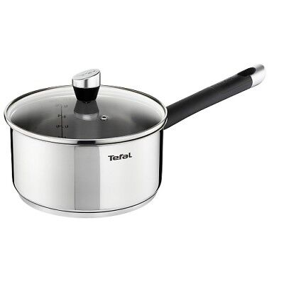 Tefal Emotion 18cm Stainless Steel Induction Saucepan with Glass Lid