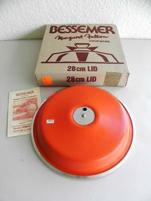 Great Boxed Never  Used Margaret Futlon Bessemer Cookware 28cm  Lid Cover