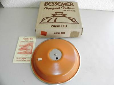 Great Boxed Never  Used Margaret Futlon Bessemer Cookware 24cm  Lid Cover