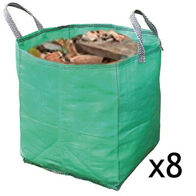 Builders Woven Reusable Work Bin Waste Bags Heavy Duty Rubble Sacks 120L x 8