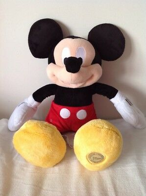 """MICKEY MOUSE Official Disney Store Large 18"""" Soft Plush Figure -VGC"""