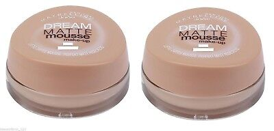 2x 18ml MAYBELLINE DREAM MATTE MOUSSE MAKE-UP