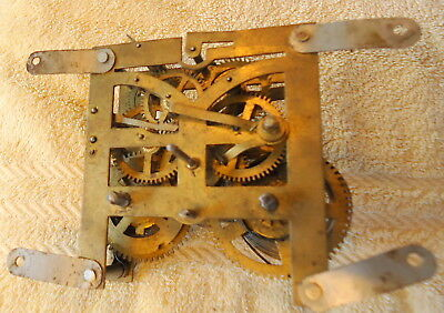 Antique German Mantel Clock Movement for Restoration or Spares it Chimes,