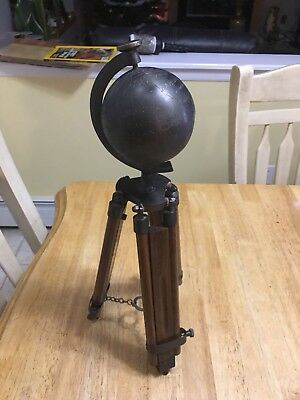 Vintage Tripod Table Top Solid Brass United States Globe Free Ship