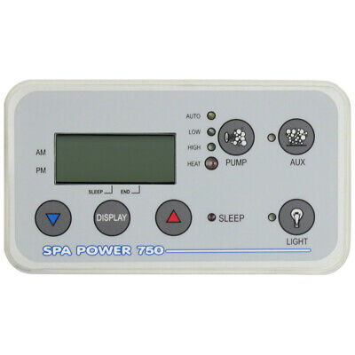 Davey SpaPower SP750 Control Touchpad Decal Rectangle Q916899