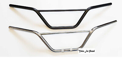 Universal Double Handlebars Black Chrome