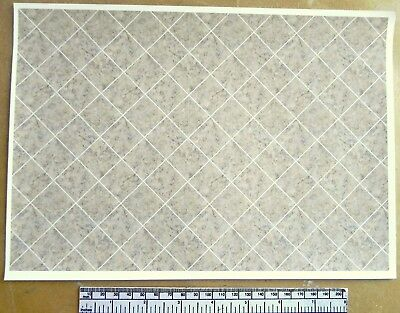 Dolls house 1/12th scale self adhesive vinyl sheet - large marbled floor tiles