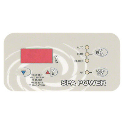 Davey Spa Power SP400 SP500 SP600 Xcelsior Control Touchpad Decal (Rectangle)