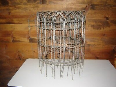 """Vintage Wire Fencing Roll approx. 22"""" X 16'  Cottage Style Garden Yard Fence"""