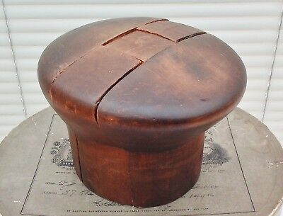 Antique French Wooden Hat Puzzle Block, Nice Patina, Millinery Display.