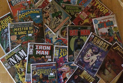 Lot of 15 Comic Books 1970 - Current  Marvel DC and Independent