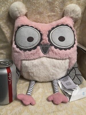 New Rare Levtex Baby Night Owl Throw Pillow Pink Nordstrom's