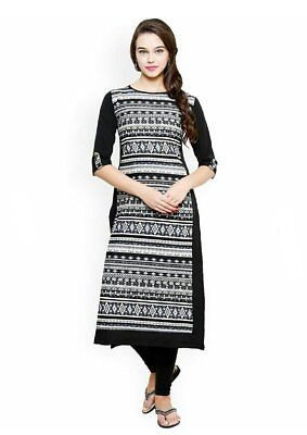 Indian Bollywood Desinger Girls Women Dress Cotton A-Line Kurta Kurti Top Tunic