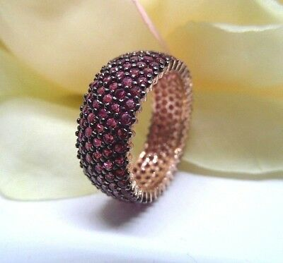 High Quality Handmade Jewelry 925 Sterling Silver / Lady' Micro Pave Ruby Rings