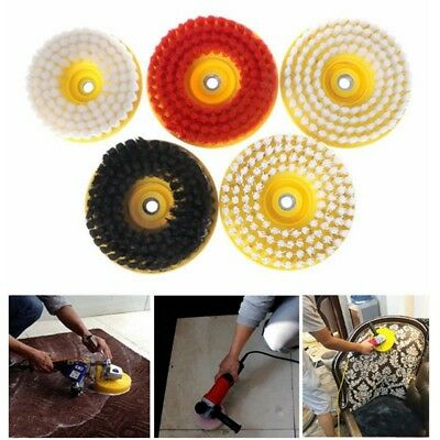 Dia 150mm Black Drill Power Scrub Clean Brush Leather Plastic Furniture Wooden