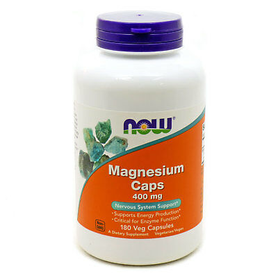 Magnesium 400 mg by Now Foods 180 Capsules
