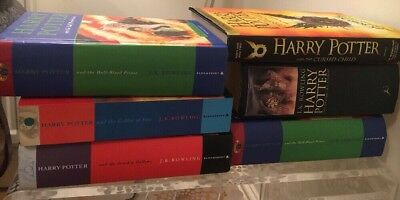 JOBLOT OF 6 HARRY POTTER BOOKS INCLUDING 1st Editions & Errors HB & Paperback