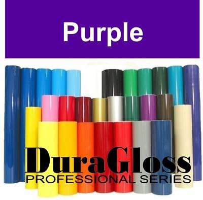 """12"""" x 10 ft Roll - Purple - DuraGloss Pro Series Adhesive Vinyl - Decal Signs"""