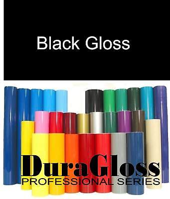 "12"" x 10 ft Roll - Black - DuraGloss Pro Series Adhesive Vinyl - Decal Signs"