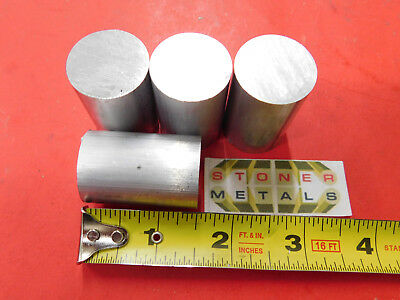"""4 Pieces 1"""" 6061 ALUMINUM ROUND ROD BAR 1.5"""" long Solid T6511 NEW Lathe Stock"""