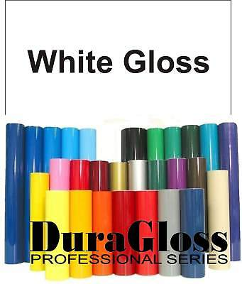 """12"""" x 10 ft Roll - White - DuraGloss Pro Series Adhesive Vinyl - Decal Signs"""