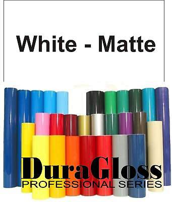 """12"""" x 10 ft Roll - Matte White -DuraGloss Pro Series Adhesive Vinyl -Decal Signs"""