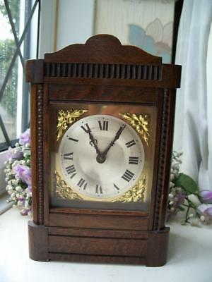 SMALL ANTIQUE HAC MANTLE CLOCK FOR SPARES OR REPAIRS c1900