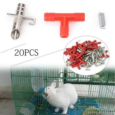 20pcs Automatic Nipple Water Feeder Drinker Waterer Fit for Rabbit Bunny Rodent