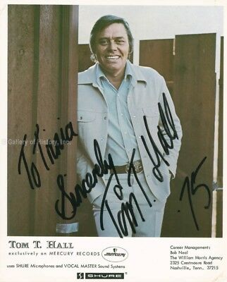 Tom T. Hall - Inscribed Printed Photograph Signed In Ink