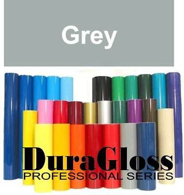 """12"""" x 10 ft Roll - Grey - DuraGloss Pro Series Adhesive Vinyl - Decal Signs Gray"""
